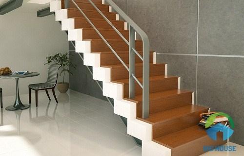 gạch giả gỗ lát cầu thang