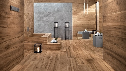 gạch ốp tường giả gỗ
