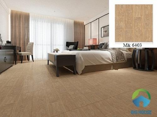 gạch giả gỗ cho phòng ngủ 1