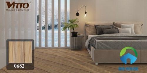 gạch giả gỗ lát phòng ngủ 1