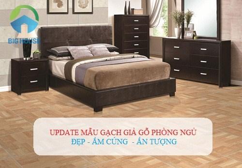 Update mẫu gạch giả gỗ phòng ngủ ĐẸP NHƯ MƠ cho các công trình