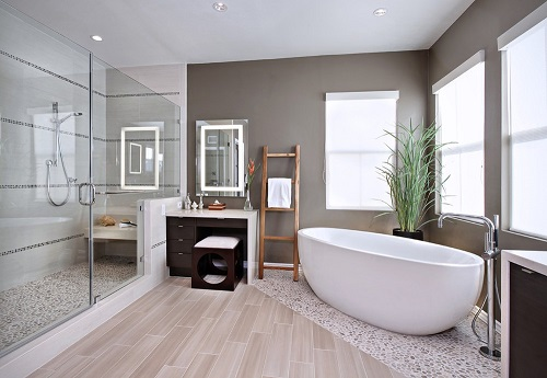 gạch giả gỗ phòng tắm