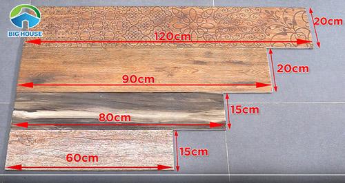 kích thước gạch giả gỗ 1