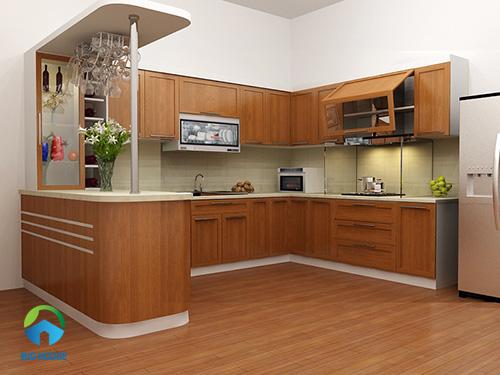 gạch ốp bếp vân gỗ