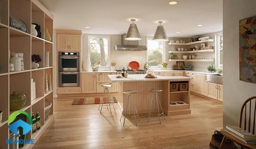 gạch giả gỗ ốp bếp